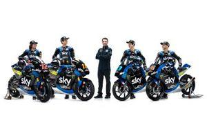 Luca Marini, Marco Bezzecchi, Celestino Vietti, Andrea Migno, Pablo Nieto, Sky Racing Team VR46