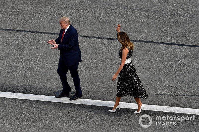 Donald J Trump, el Presidente de Estados Unidos y Grand Marshall para la Daytona 500