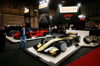 Mario Isola, Racing Manager, Pirelli Motorsport unveils the 18-inch F2 tyres for 2020