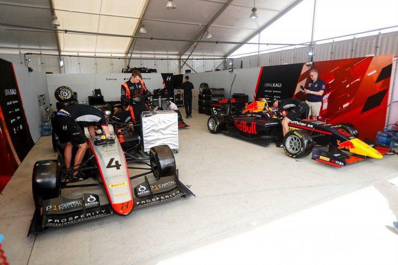 Max Fewtrell, Hitech Grand Prix et Dennis Hauger, Hitech Grand Prix