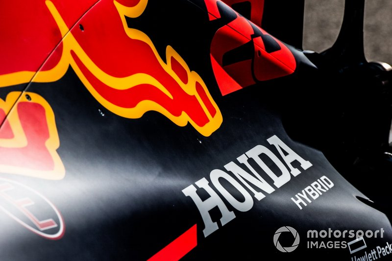 Honda Hybrid branding on an engine cover
