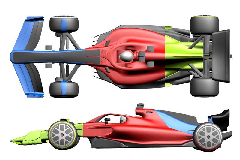 2021 F1 araçları, çizim