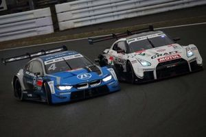 Alex Zanardi, BMW Team RBM BMW M4 DTM, Kohei Hirate, NDDP Racing with B-Max Nissan GT-R NISMO GT500