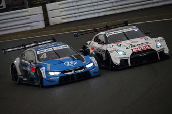 Alex Zanardi, BMW Team RBM BMW M4 DTM, Kohei Hirate, NDDP Racing with B-Max Nissan GT-R NISMO GT500