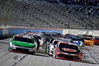 Tyler Reddick, Richard Childress Racing, Chevrolet Camaro Alsco and Christopher Bell, Joe Gibbs Racing, Toyota Supra Rheem