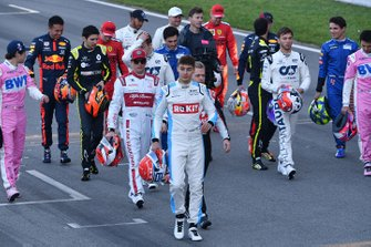 The drivers on the track