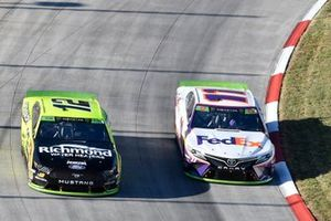 Ryan Blaney, Team Penske, Ford Mustang Menards/Richmond, Denny Hamlin, Joe Gibbs Racing, Toyota Camry FedEx Freight