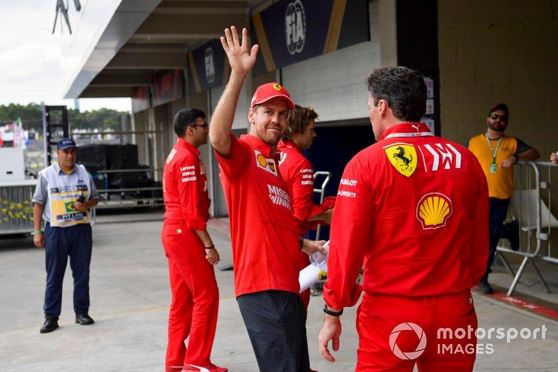Sebastian Vettel, Ferrari in pista