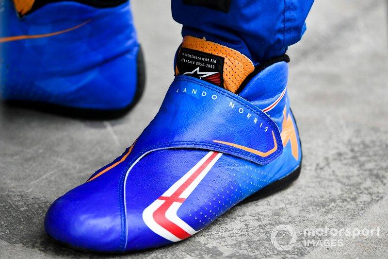 Les chaussures de Lando Norris, McLaren