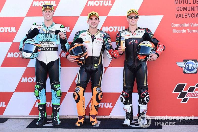 Polesitter Andrea Migno, Bester Capital Dubai, second place Marcos Ramirez, Leopard Racing, third place Jaume Masia, Bester Capital Dubai