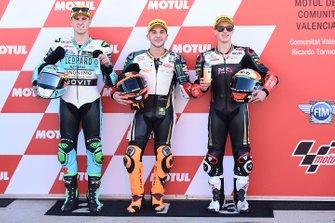Ganador de la pole Andrea Migno, Bester Capital Dubai, segundo lugar Marcos Ramirez, Leopard Racing, tercer lugar Jaume Masia, Bester Capital Dubai