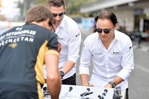 Felipe Massa, Venturi, Edoardo Mortara, Venturi play table football against the DS Techeetah drivers