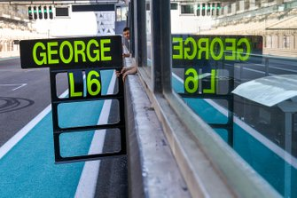 George Russell, Mercedes AMG F1 pit board