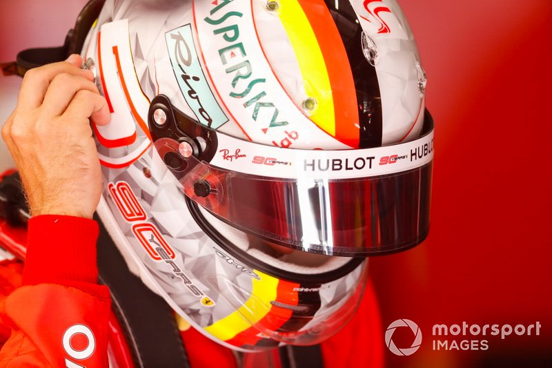 Sebastian Vettel, Ferrari, al GP del Belgio del 2019