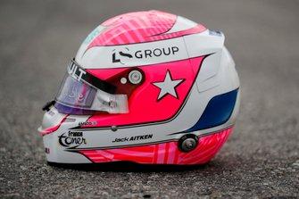 Helm von Jack Aitken, Campos Racing, in Erinnerung an Anthoine Hubert