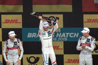 Podium: Race winner Marco Wittmann, BMW Team RMG, second place René Rast, Audi Sport Team Rosberg, third place Nico Müller, Audi Sport Team Abt Sportsline