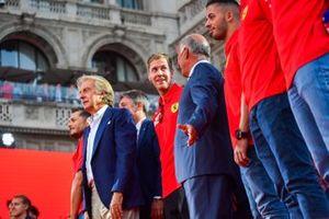 Luca di Montezemolo y Sebastian Vettel, Ferrari