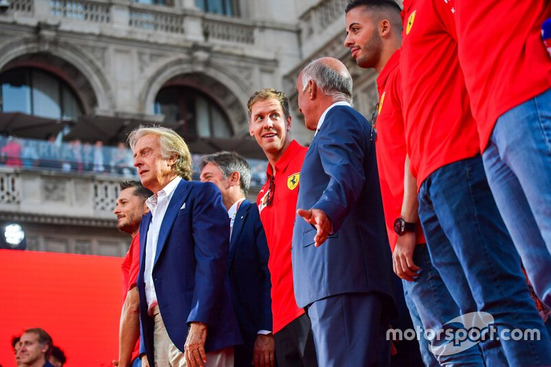 Luca di Montezemolo and Sebastian Vettel, Ferrari