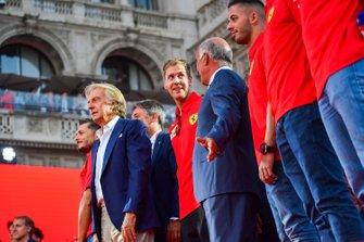Luca di Montezemolo e Sebastian Vettel, Ferrari