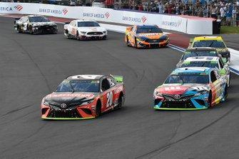 Erik Jones, Joe Gibbs Racing, Toyota Camry Craftsman and Kyle Busch, Joe Gibbs Racing, Toyota Camry M&M's Hazelnut