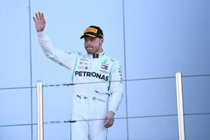 Valtteri Bottas, Mercedes AMG F1, 2nd position, arrives on the podium