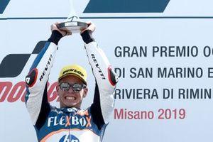 Podium: race winner Augusto Fernandez, Pons HP40