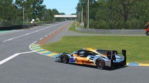 Фрагмент виртуальной гонки: команда Team Redline Orange – Макс Ферстаппен, Руди ван Бурен, Аце Керхоф, Боно Хейс