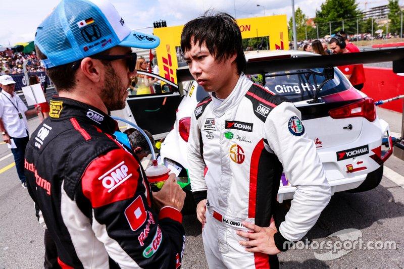 Esteban Guerrieri, ALL-INKL.COM Münnich Motorsport Honda Civic Type R TCR, Ma Qing Hua, Team Mulsanne Alfa Romeo Giulietta TCR