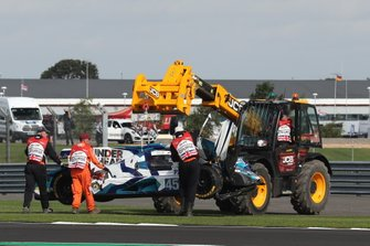 #45 Carlin Dallara P217 Gibson: Jack Manchester, Harry Tincknell, Ben Barnicoat after the crash