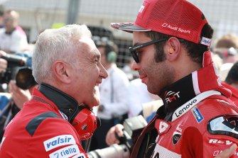 Davide Tardozzi, Team manager Ducati Team, Danilo Petrucci, Ducati Team