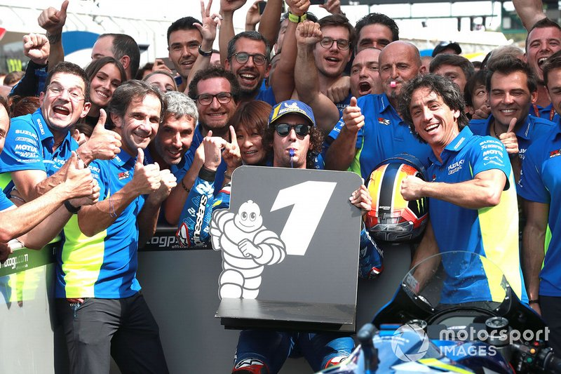 Il vincitore della gara Alex Rins, Team Suzuki MotoGP