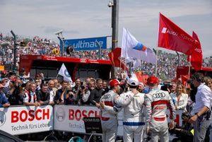 Parc ferme, Mike Rockenfeller, Audi Sport Team Phoenix, Bruno Spengler, BMW Team RMG, Jamie Green, Audi Sport Team Rosberg
