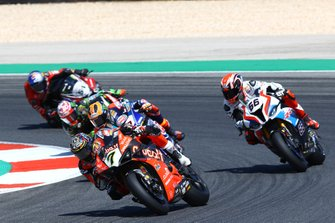 Chaz Davies, Aruba.it Racing-Ducati Team, Tom Sykes, BMW Motorrad WorldSBK Team, Michael van der Mark, Pata Yamaha