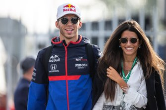 Pierre Gasly, Toro Rosso with his girlfriend Caterina Masetti Zannini