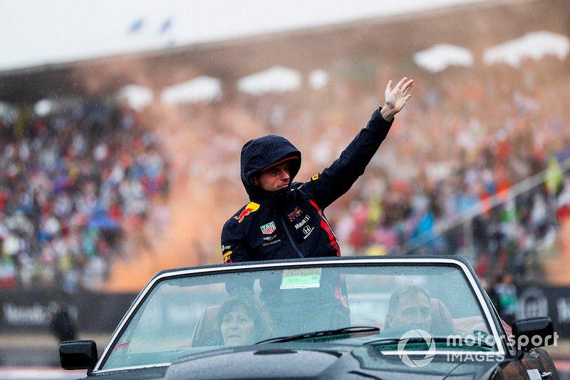 Max Verstappen, Red Bull Racing, en el desfile de pilotos