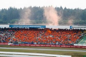 A sea of orange in support of Max Verstappen, Red Bull Racing