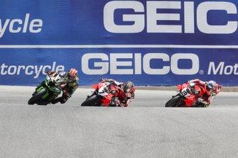 Jonathan Rea, Kawasaki Racing Team, Chaz Davies, Aruba.it Racing-Ducati Team, Alvaro Bautista, Aruba.it Racing-Ducati Team