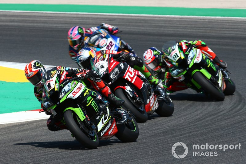 Jonathan Rea, Kawasaki Racing Team, Toprak Razgatlioglu, Turkish Puccetti Racing, Leon Haslam, Kawasaki Racing Team
