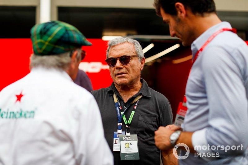 Sir Martin Sorrell, Mark Webber, y Sir Jackie Stewart