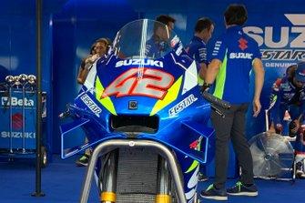Team Suzuki MotoGP bike fairing detail