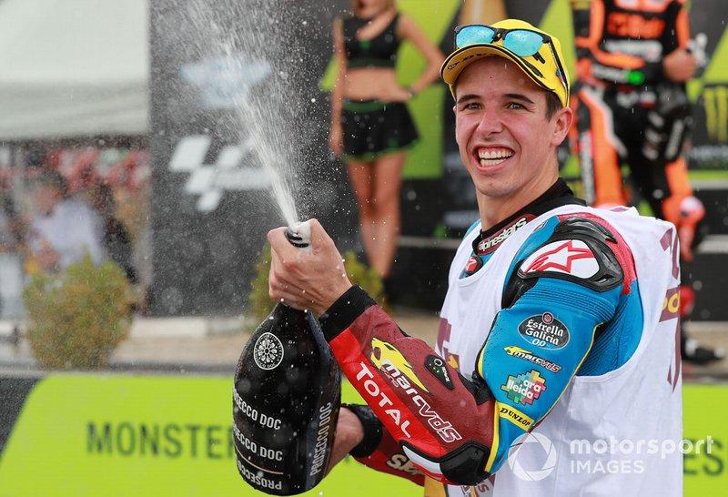 Podio: Alex Márquez, ganador de la carrera, Marc VDS Racing