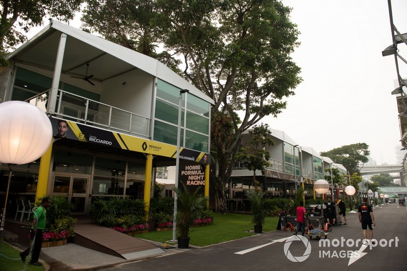 The Renault hospitality area in the paddock