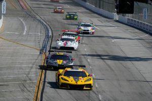 #3: Corvette Racing Corvette C8.R, GTLM: Antonio Garcia, Jordan Taylor, #4: Corvette Racing Corvette C8.R, GTLM: Tommy Milner, Nick Tandy, #79: WeatherTech Racing Porsche 911 RSR - 19, GTLM: Cooper MacNeil, Mathieu Jaminet