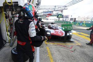 Jose Maria Lopez, #7 Toyota Gazoo Racing Toyota GR010 - Hybrid Hypercar during a pit stop