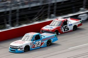 Chase Purdy, GMS Racing, Chevrolet Silverado Bamabuggies.com and Tanner Gray, Team DGR, Ford F-150 Ford Performance