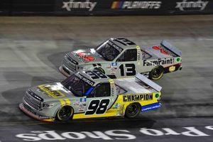Grant Enfinger, ThorSport Racing, Toyota Tundra Champion/Curb Records, Johnny Sauter, ThorSport Racing, Toyota Tundra FarmPaint.com