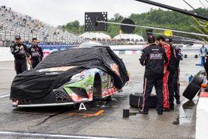 Martin Truex Jr., Joe Gibbs Racing, Toyota Camry after the wreck
