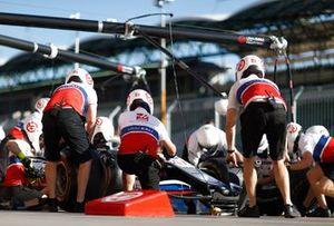 Haas F1 team pitstop training