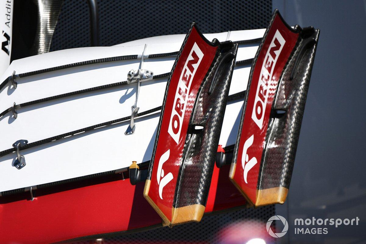 Detalle del alerón delantero del Alfa Romeo Racing C41