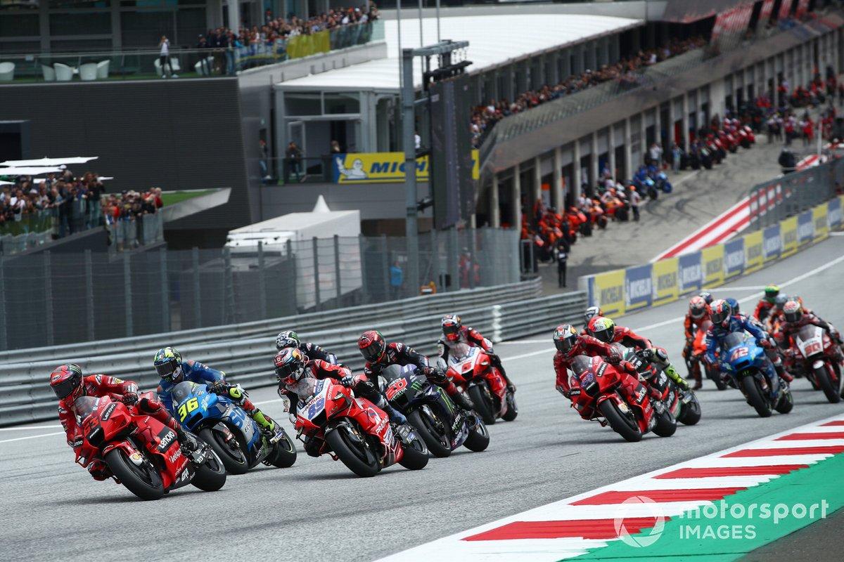 Francesco Bagnaia, Ducati Team in testa alla partenza